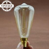 LightInBox Fixtures Glass LED Edison Bulb 40W 110V/220V Pendant Lamps ST48 Vintage Retro E14 Incandescent Light Lamp Bulb