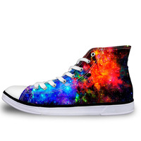 NOISYDESIGNS Spring Men Vulcanize Shoes Fashion Brand Super Galaxy Star Lace up Flats Sneakers Men Summer High Top Canvas Shoes