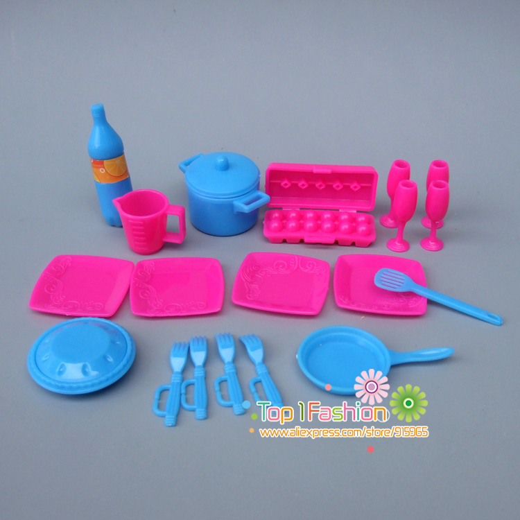 Kitchen Tableware Doll Accessories For Barbie Dolls / For Monster Hight Dolls Toys Girls Baby Play House Toys