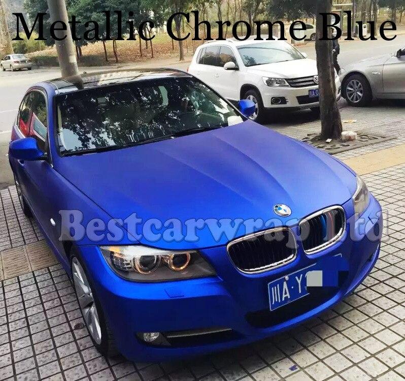 Matte Blue Car >> Us 141 55 5 Off Metallic Blue Matte Chrome Ice Film Vinyl For Car Wrap Air Bubble Free Car Full Body Adhesive Sticker Foil Vinyle 1 52 20m On