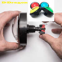 Big Dome Pushbutton 100mm Illuminated Arcade Push Buttons Led 12v Power Button Switch Push Button with Microswitch