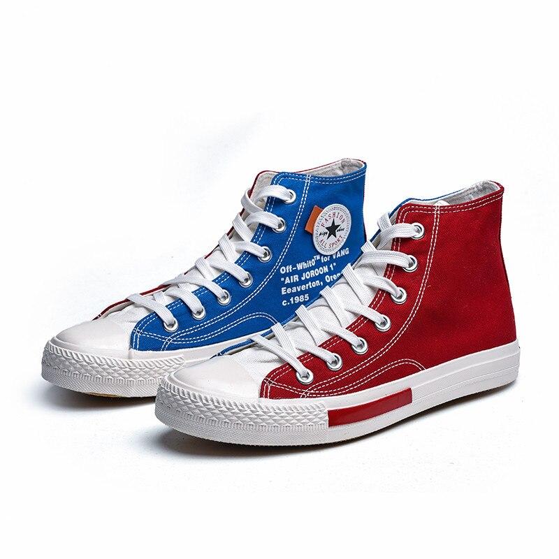 Respirant Chaussure Mode Marche 8537 Blue Hommes 8537 Black Classique Deux red Toile Sneakers Homme haut Chaussures White Casual Haut 2018 Couleurs Eq7fqpS