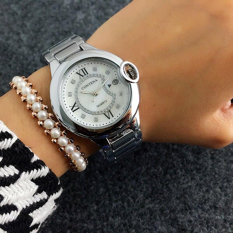 Uhren Praktisch Neue Mode Strass Uhren Frauen Luxus Marke Edelstahl Armband Uhren Damen Quarz Kleid Uhren Reloj Mujer Uhr