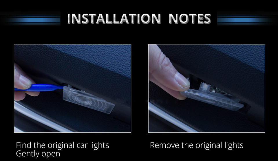 For Audi Car Door LED Welcome Light Audi Logo Projector Courtesy Lights ambient light Car Styling Clarity Soft Decorative light (12)