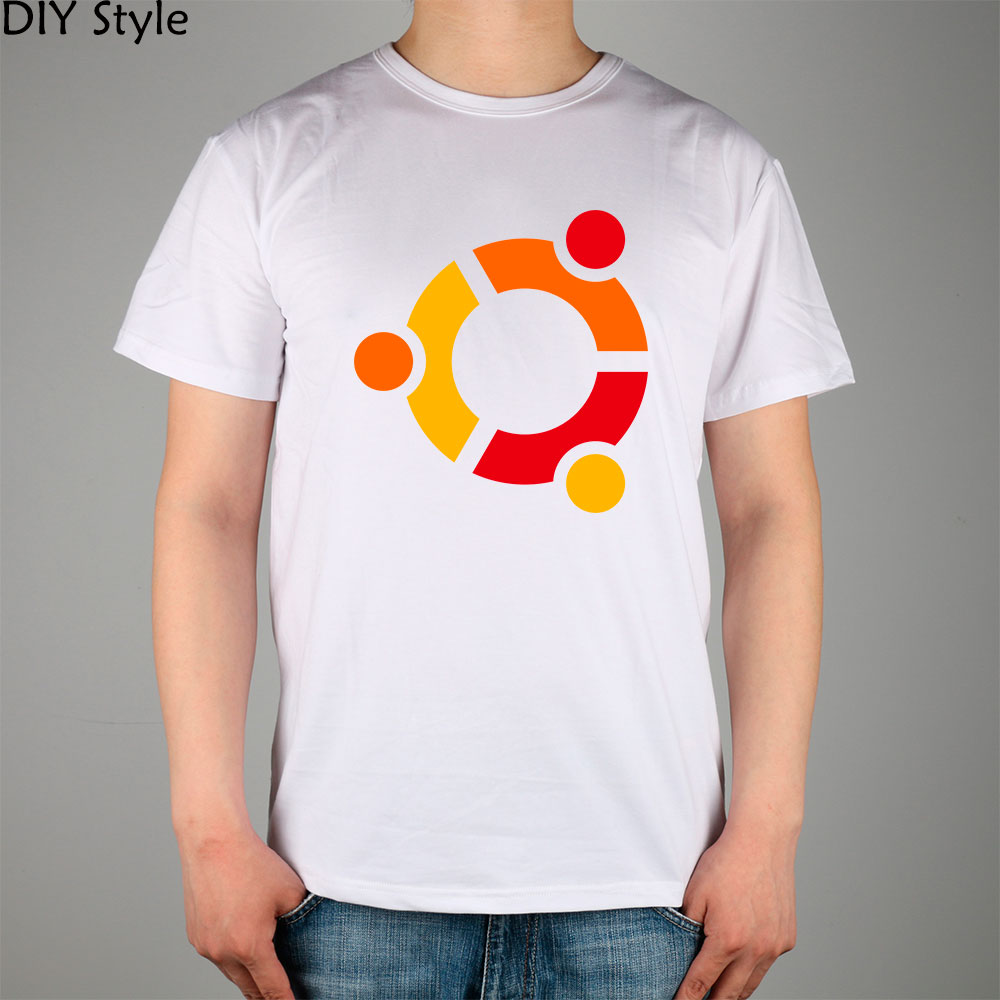 Figure UBUNTU LINUX AIA male short-sleeved T-shirt new arrival Fashion Brand t shirt for men