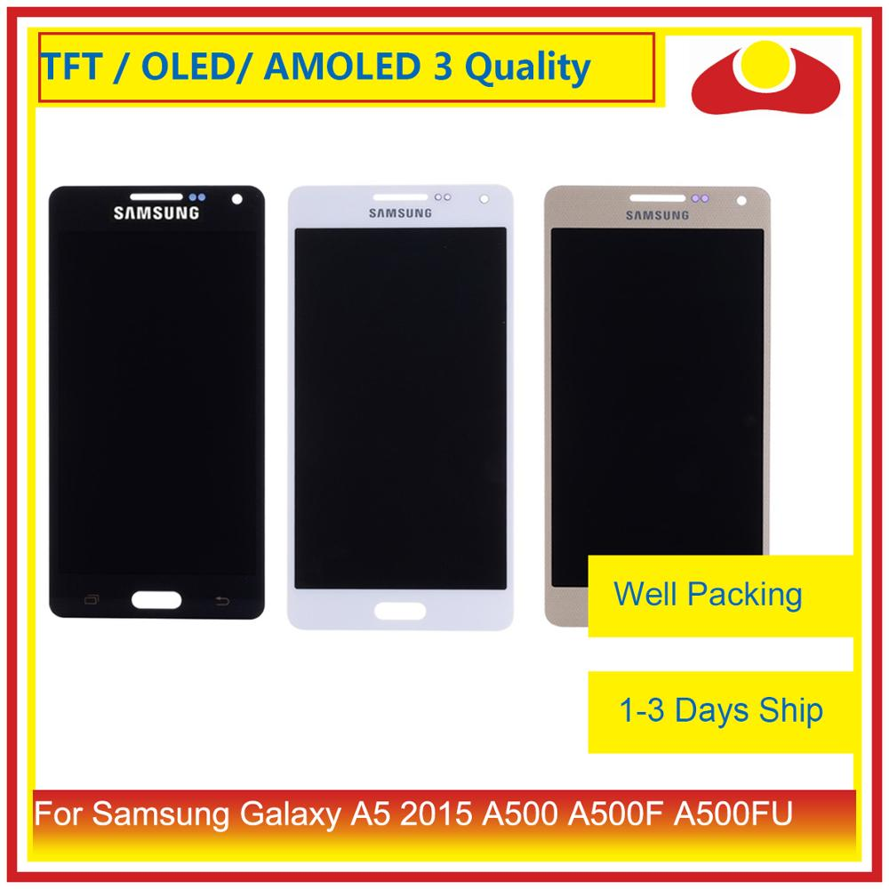 ORIGINAL For <font><b>Samsung</b></font> <font><b>Galaxy</b></font> <font><b>A5</b></font> 2015 A500 A500F A500FU A500H A500 <font><b>LCD</b></font> Display With Touch <font><b>Screen</b></font> Digitizer Panel Pantalla Complete image