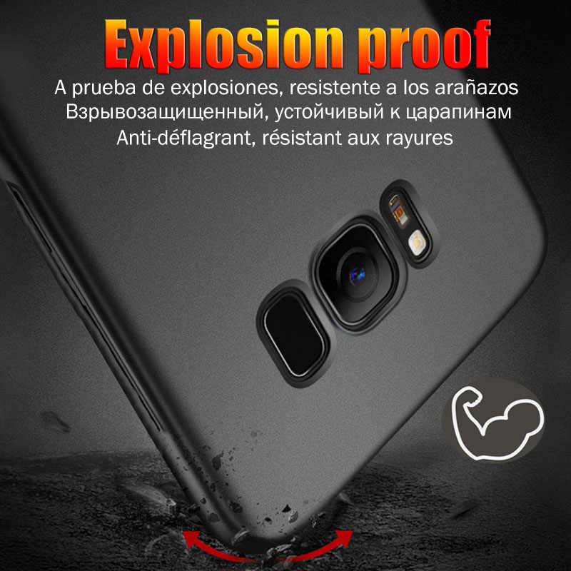 Матовый защитный чехол для телефона для samsung Galaxy S8 S9 Plus Note 9 Note 8 J5 A5 2017 S8 плюс S6 S7 край A7 J7 2017 матовый поликарбонатный чехол