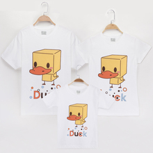 2019 T Shirt Family Costumes Matching Outfits Mother Daughter Duck Pattern 100% Cotton Mom Mommy And Me Clothes Father Son Shirt basketball dad mom baby girl boy family matching outfits cotton t shirt father mother son daughter print letter mommy and me kid