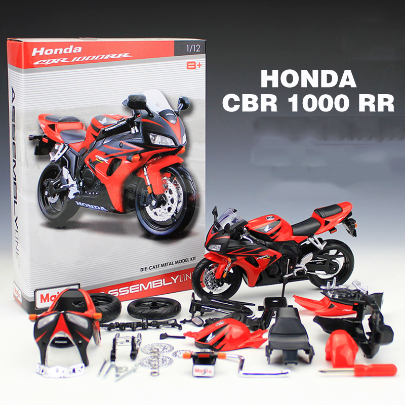 Maisto 1:12 Motorcycle Toy CBR 1000RR Simulation Model DIY Assembled Motor Car Kids Educational Toys  Kits