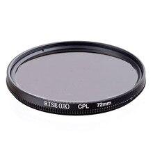 עלייה 72mm המקטב CPL C PL מסנן עדשת 72mm עבור Canon NIKON Sony אולימפוס מצלמה