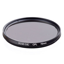 RISE 72mm Circular Polarizing CPL C PL Filter Lens 72mm For Canon NIKON Sony Olympus Camera