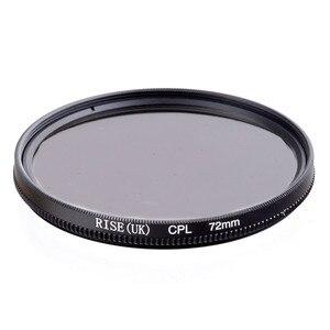 Image 1 - RISE 72mm Circular Polarizing CPL C PL Filter Lens 72mm For Canon NIKON Sony Olympus Camera