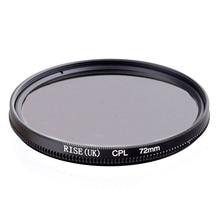 Rise 72mm 원형 편광 cpl C PL 필터 렌즈 72mm canon nikon sony olympus 카메라 용