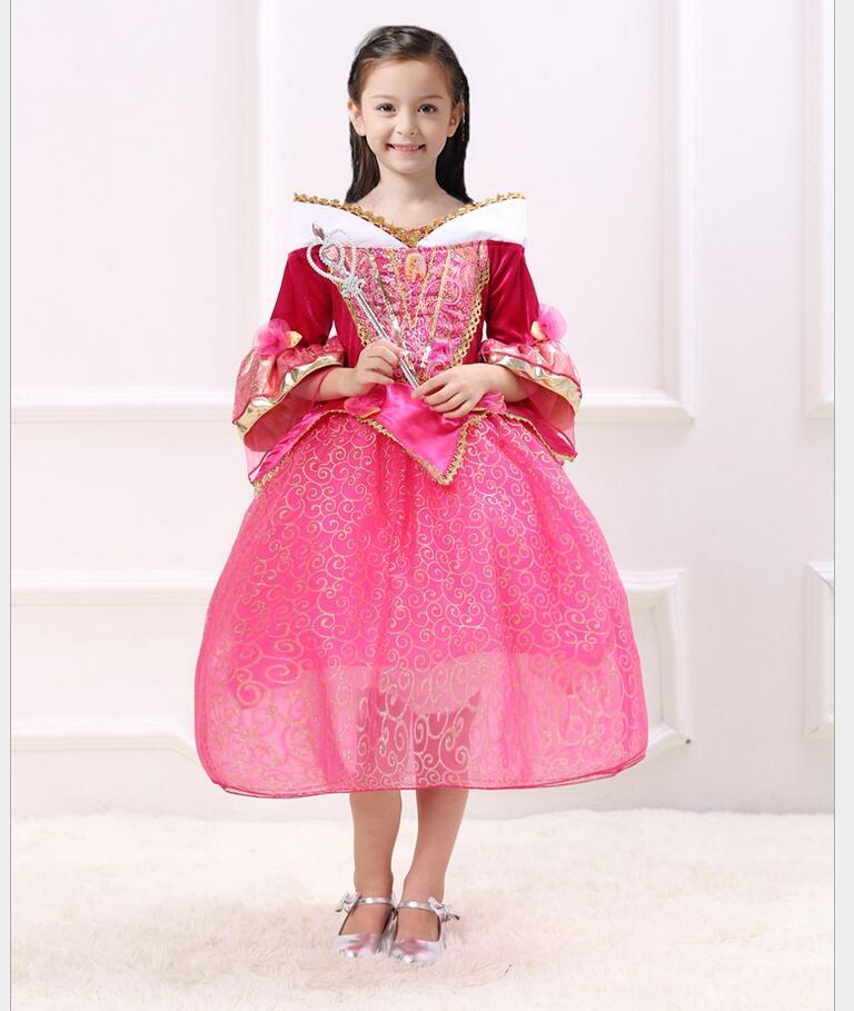 Original Princess Snow White Cinderella Dresses Costumes: 2016 New Girls Cinderella Dresses Children Snow White