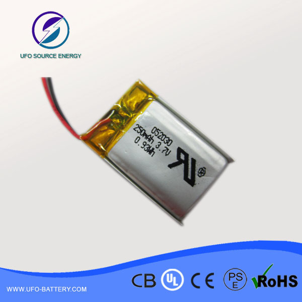 5pcs 502030 250mah Lithium Polymer Battery Packs With Pcm For