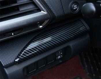 สำหรับ Subaru Forester 2019 2020 คาร์บอนไฟเบอร์ ABS แผง Bright Strip ตกแต่ง Trim อุปกรณ์จัดแต่งทรงผม 2 pcs