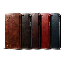 Flip Leather Card Wallet Case Cover For Apple iPhone 6 7 8 Plus XR XS Max Retro Slot Phone Full
