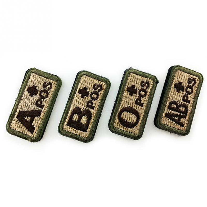 Careful 1pcs Military Tactics Blood Types Embroidered Sticker Hook Badges Medical Armband Badges