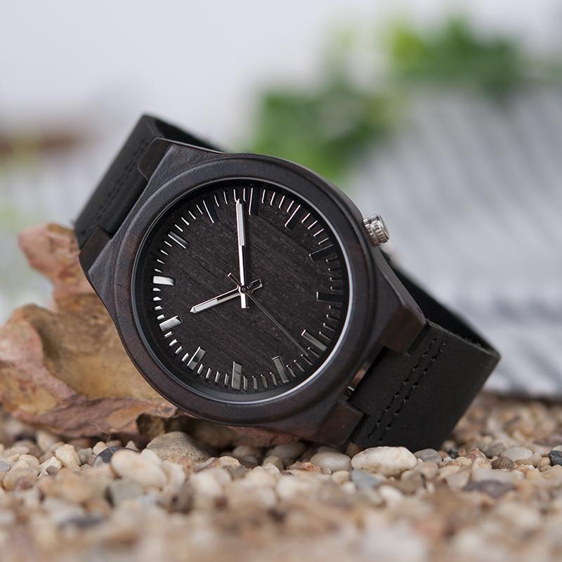 Zegarek drewniany Bobo Bird Dark B12 9