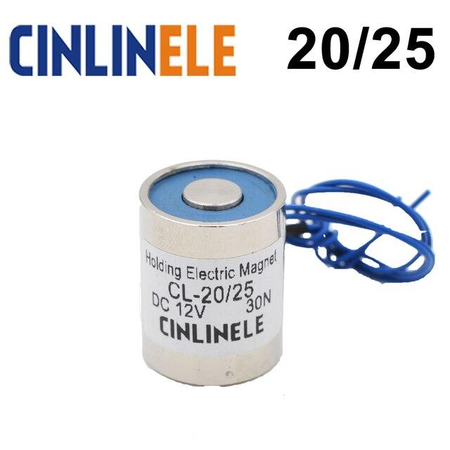 CL-P 20/25 3KG 30N Holding Electric Magnet Lifting  Solenoid Sucker Electromagnet DC 6V 12V 24V Non-standard custom