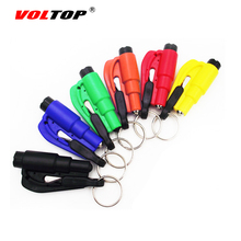 Car Safety Hammer Key Ring Chain Knife Life Saving Seat Belt Cutter Break Window Glass Auto Emergency Escape Broken Rescue Tool(China)