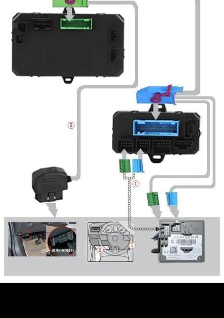 PLUSOBD Auto Fernstarter Für Mercedes Benz C W204 Auto motor ...