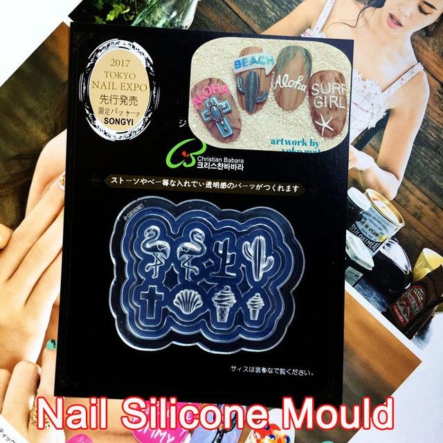 3d Acrylic Nail Art Template Mold Flamingo Shape Resin Nail Art