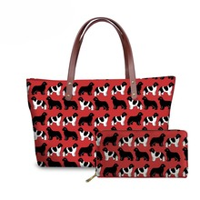 NOISYDESIGNS Womens Handbags&Wallet for Travel Newfoundland Dogs Printing Shoulder Tote Bag Ladies Top-Handle Bags Sac A Dos
