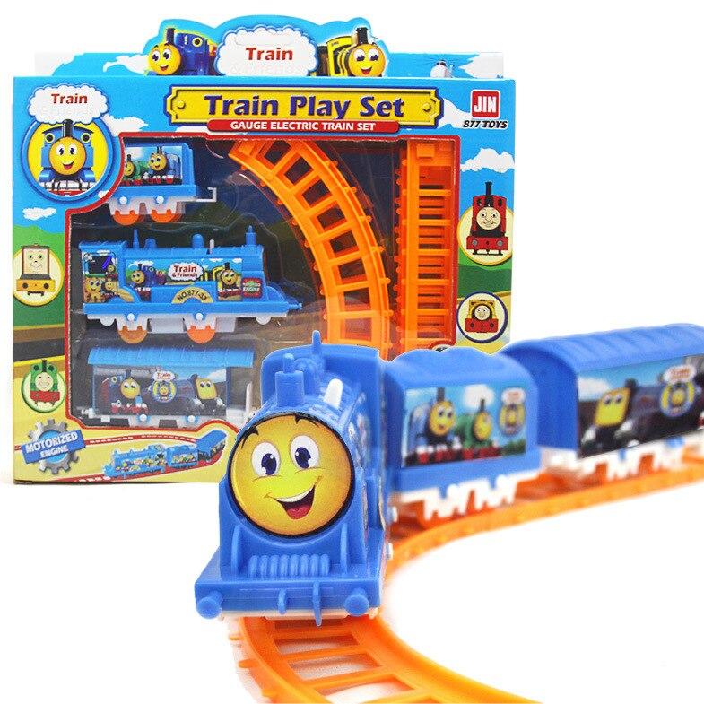 Chaude Intéressant Enfants Jouet Train de Montage Piste Train Modèle Enfants Intelligence Education Jouet Modèle de Train Jouet