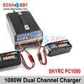SKYRC PC1080 Двухканальной Зарядное Устройство 1080 Вт 20А Литиевая Батарея Зарядное Устройство для Защиты Растений БПЛА Drone