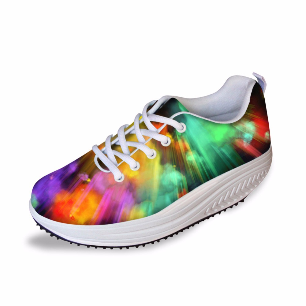 Noisydesings Pattern Casual Female girls Lace up Shoe Casual breathable Comfort Shoes lady Classic Low Height