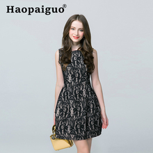 2019 Summer Backless Black Lace Dress Women Sleeveless Casual Vintage Dresses Ladies Floral Bandage Bodycon Sexy