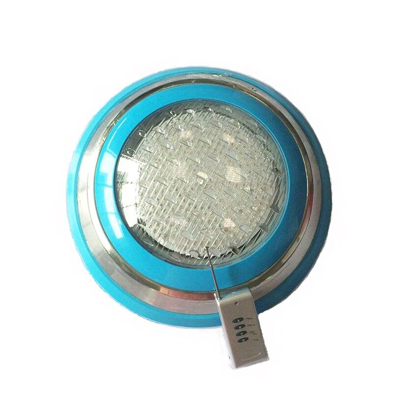 Светодио дный бассейн свет 54 Вт AC 12 В 24 В RGB IP68 светодио дный удаленного Управление подводный светильник Наружное освещение пруд огни светод