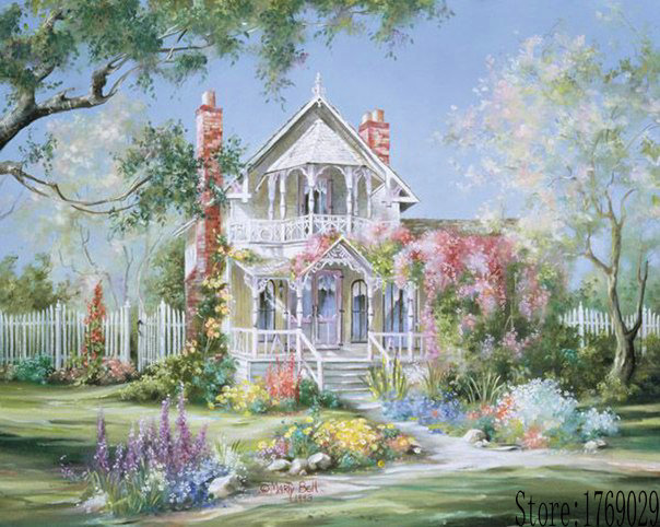 Online Buy Wholesale mediterranean garden oil painting from China