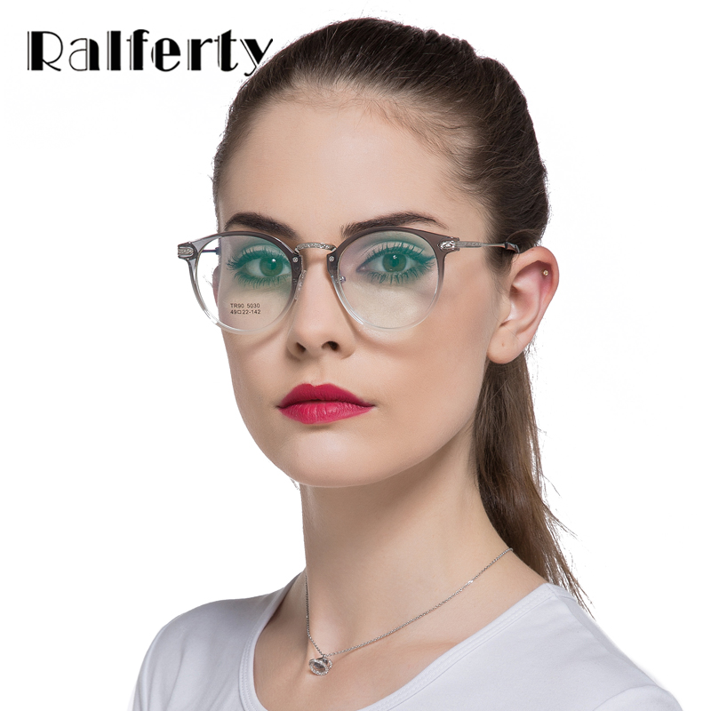 Ralferty 2017 Ultra-light TR90 Glasses Frame Anti-radiation TV Computer Goggles Optical Frames Oculos 5030