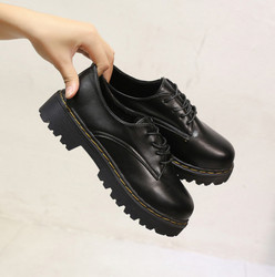 New authentic women s leather shoes platform leather loafers shoe handmade moccasins motorcycle shoes chaussure femme.jpg 250x250