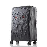Голова тигра печати rolling камера spinner чемодан тележка Box МНЛЗ 19/25/29 дюймов интернат багажа