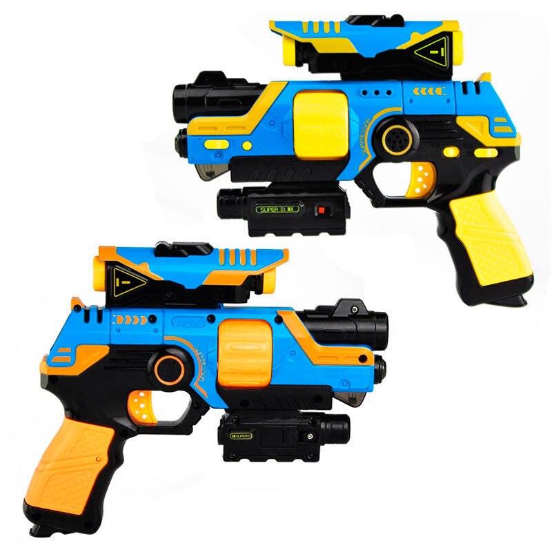 2 pièces/ensemble jouet arme son lumière électrique jouet pistolet modèle infrarouge en plastique pistolet secouant CS extérieur jeu Prop