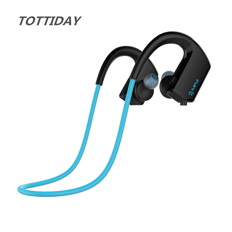 IPX4 Waterproof MP3 Music Player 8GB+Wireless Bluetooth Sport Earphone Earbuds Headset with Mic Handsfree for Phone portable waterproof earphone storage box drop resistance protective case for headphone mp3 player headset amp earplugs earbuds