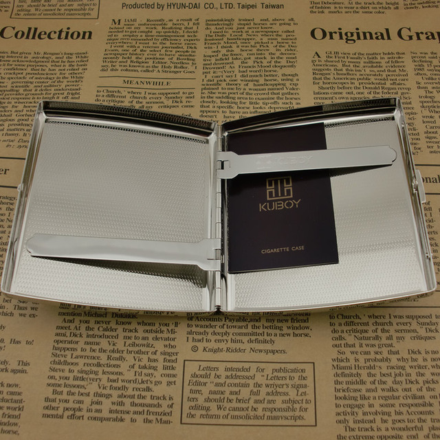 square 20 thick nickel wire drawing laser, upscale boutique cigarette case, men's s, business s