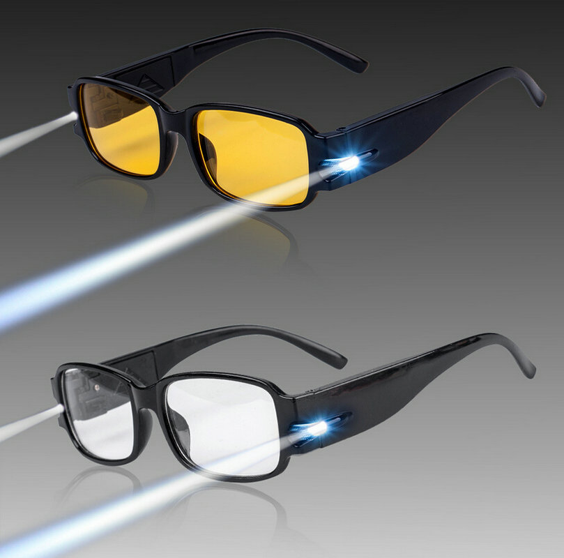 led reading glasses light spectacles eyewear diopter