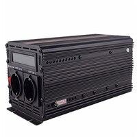 EDECOA 12 В 220 В Чистая синусоида Инвертор с UPS и функцией зарядного устройства 1500 Вт 3000 Вт Пиковая мощность