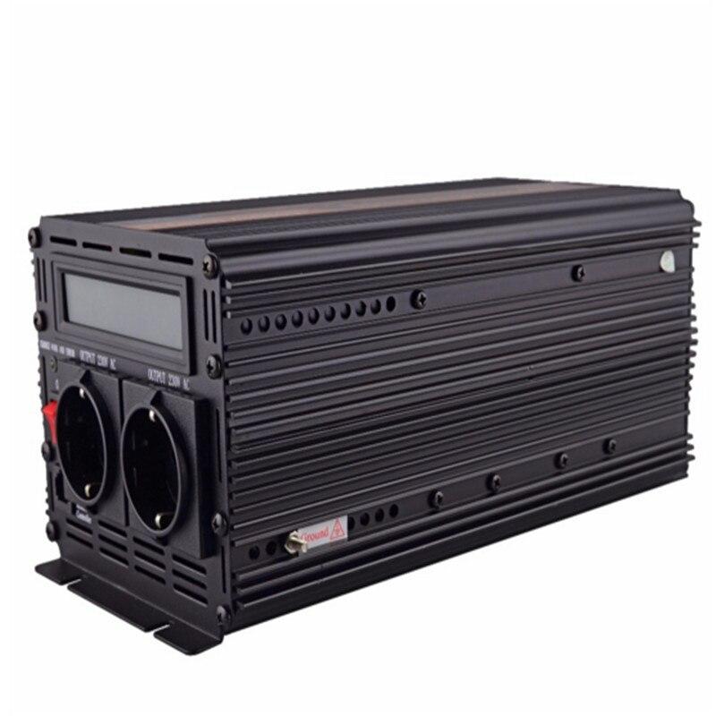 EDECOA 12 V 220 V pur onduleur à onde sinusoïdale avec UPS et fonction de chargeur de batterie 1500 w 3000 w puissance maximale