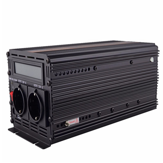 EDECOA 12V 220V pure sine wave power inverter with UPS and battery charger function 1500w 3000w peak power