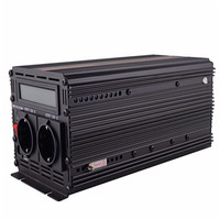 EDECOA free shipping12V 220V pure sine wave power inverter with UPS and battery charger function peak 3000W