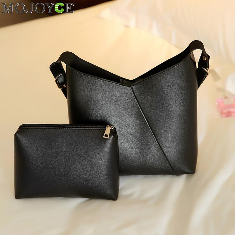 2Pcs/Set Women PU Leather Handbag Fashiom Crossbody Bags For Women Shoulder Bag Designer Female Composite Hobo Bag