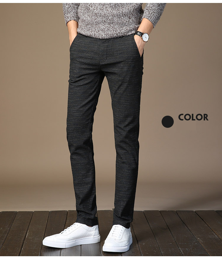 HTB10HbCssuYBuNkSmRyq6AA3pXao MRMT 2019 Brand Mens Spring And Summer Casual Pants Men Striped Micro Elastic Straight Trousers