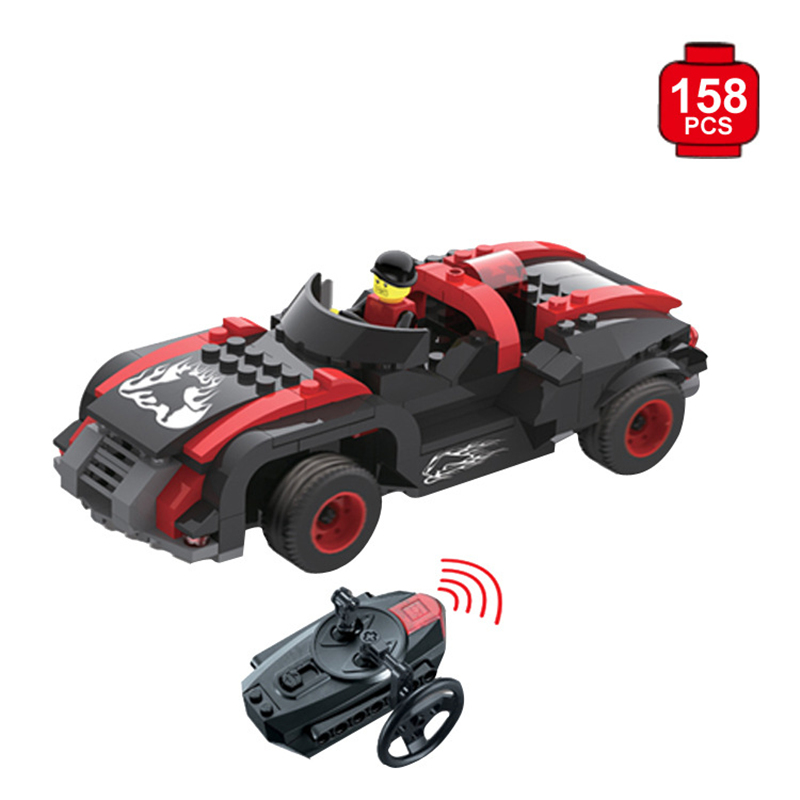 New Remote Control Car Building Blocks Bricks Educational Toys For Children Gift Christmas Legoings 12dd building blocks assembled remote control car educational toys red black