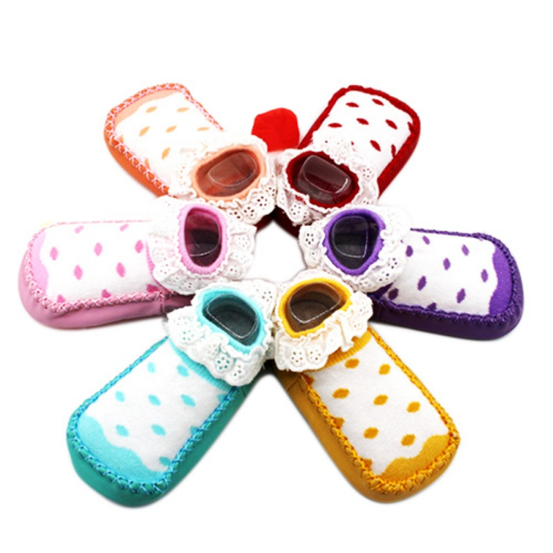 New Arrival Infant Toddler Soft Soled Anti-slip Newborn Baby soft bottom cotton school shoes Christmas baby socks shoes