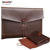 Handmade Sleeve For Macbook Pro 13 Case Genuine Leather Bag For Macbook Air 11 6 13